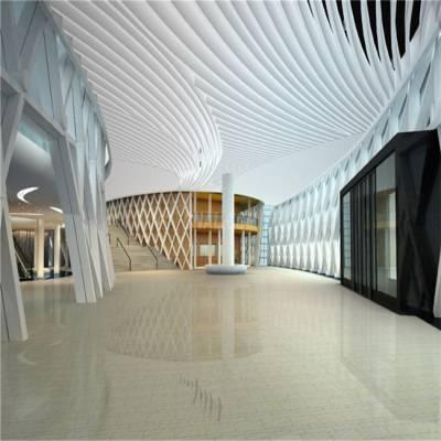 展馆铝方通美丽装饰效果