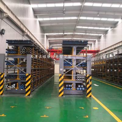 广州12米钢管放置架 伸缩式悬臂货架价格 行车配套省空间