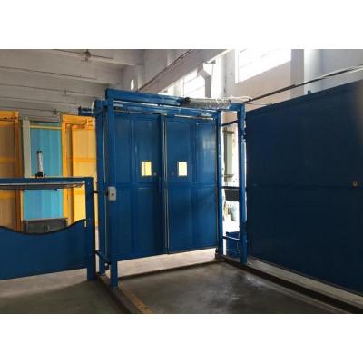 竹胶板双向行车风门生产工艺流程