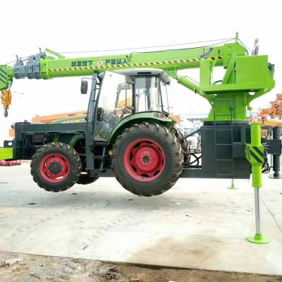 拖拉机吊车适用范围_拖拉机吊机多少钱一台_吊电线杆拖拉机改装吊车