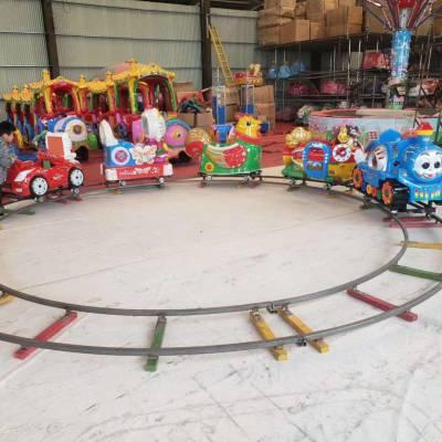 豪華電動軌道火車游樂設備室內商場景區炫彩四節八座猴子抬車設備