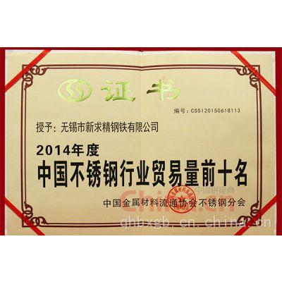 中国不锈钢行业贸易前十名