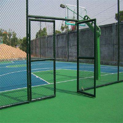 马路绿化带防护网 包塑勾花网 学校操场围栏网
