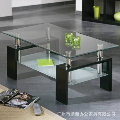 最新款创意简约现代钢化玻璃茶几桌子家用客厅茶几办公室茶几桌