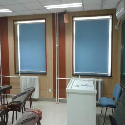 北京朝阳写字楼办公楼工程遮阳帘阳光面料阻燃窗帘会议电动窗帘