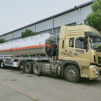 广东清远50方铝合金半挂油车能拉多少吨柴油