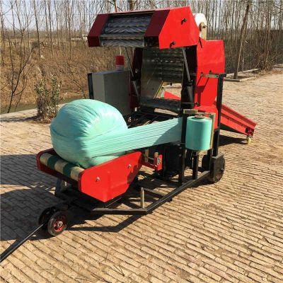 养殖牧草打捆机 皇竹草揉丝打包机 油电两用青贮打包机