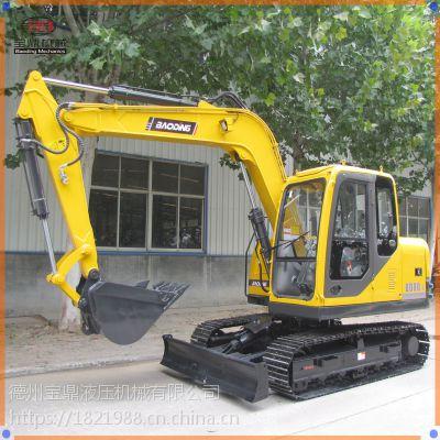 宝鼎BD80-8小型挖掘机,国产小型履带式挖掘机