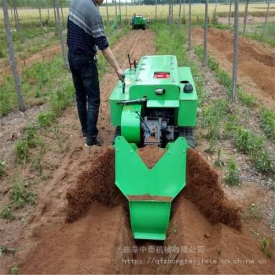花椒树种植用履带耕整起垄机 树林自走式开沟培土机 大块地旋耕施肥机