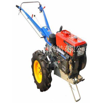 12馬力常柴拖拉機 硬質土地整改旋耕機 大馬力手扶拖拉機車斗