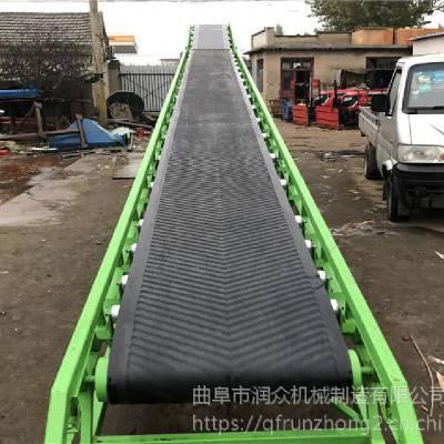 工厂6米皮带输送机 圆管主架V型托辊输送机 可移动升降传送设备