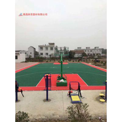 龙山县别墅花园篮球场塑胶地面施工 湘西室外塑胶球场材料厂家