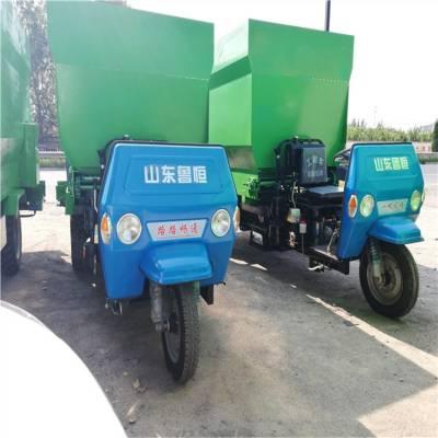 牛羊柴油5立方撒料车 多用途电动撒料车 饲养场喂料三轮车