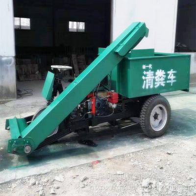 驴场驴粪清理车 柴油型清粪车 润丰机械 畜牧业自动清粪车