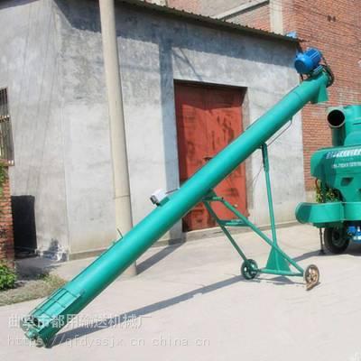 玉米糁螺旋提升机 鹤岗市螺旋提升机定做 大米小米管式上料机