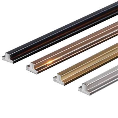 不锈钢装饰T型条U型条L型条拉丝表面防滑T型条扣条收边压边线条