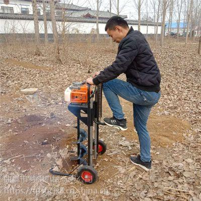 菜园子篱笆桩打洞机 蔬菜大棚立柱打桩机 慧聪机械定做带支架手摇挖坑机价格1