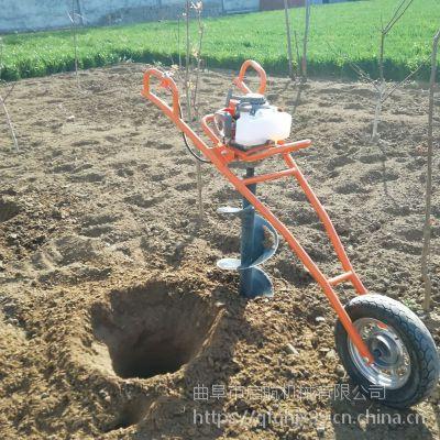 水泥柱挖坑打洞机 手推框架水泥杆钻坑机 启航拖拉机钻窝机价格