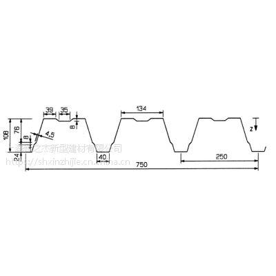 宿迁镀锌楼承板 压型钢板YX108-250-750型开口钢承板_上海新之杰压型钢板厂