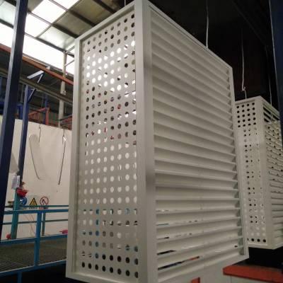 学校定制空调罩铝单板 2.5厚白色镂空铝单板