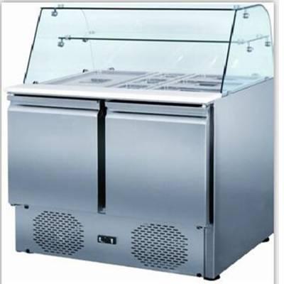 优质水果沙拉柜|沙拉展示柜|商用保鲜柜可以按要求做吗