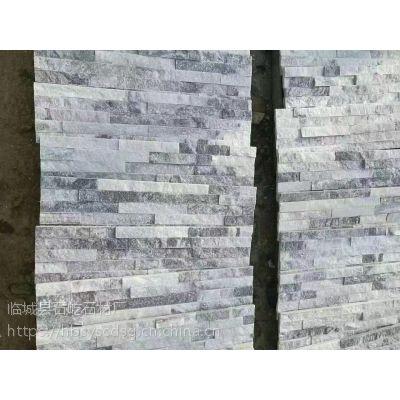 河北石屹供应家装150*600青灰色文化石,绿色天然5条云灰文化石