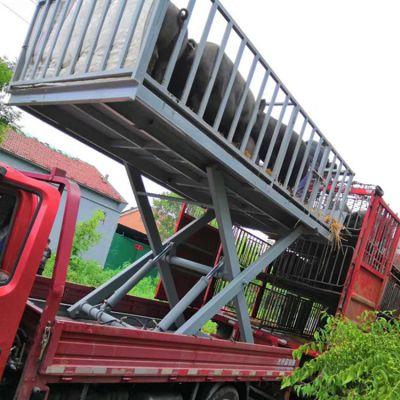 养猪场用卸猪台 3吨固定式电动液压升降机工厂直销