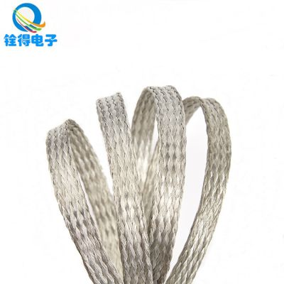 铨得供应4mm不锈钢编织带 耐高温环保抗腐蚀304不锈钢编织带