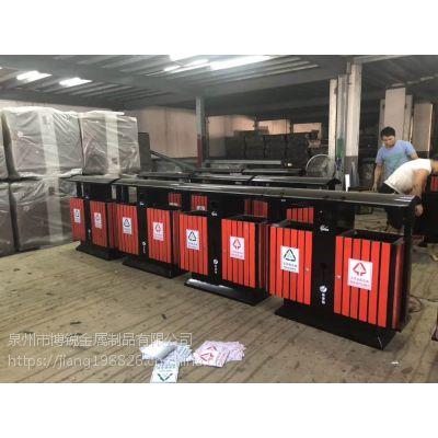 批发室外果皮箱 户外环卫垃圾桶分类垃圾箱 钢木环保塑木桶批发