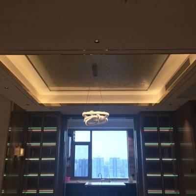 西安高端豪宅墙面装饰马来漆效果