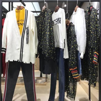 个性轻奢时尚女装 珞炫秋装 都市摩登风情 广州品牌折扣女装货源批发