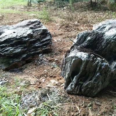 灰色景观石价格 天然灰色景观石价格 广东黑灰色石头厂家