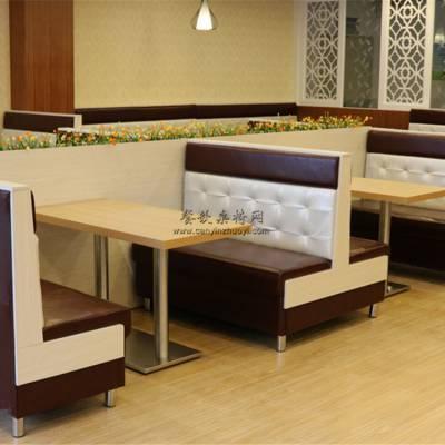披萨店家具定做,披萨店卡座沙发桌子组合实拍