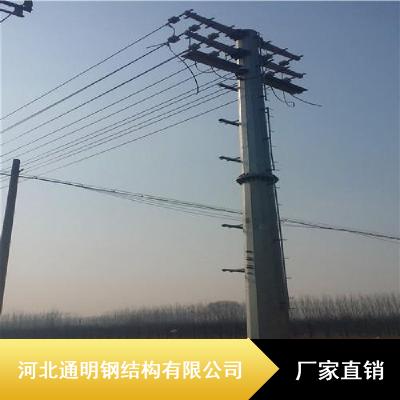 通明Q345B钢管杆_热喷锌防腐钢管杆_30米钢管杆现货
