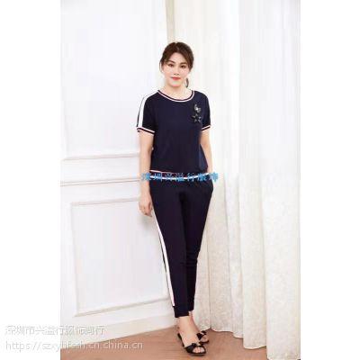 深圳宝莱国际18春夏,专柜同步休闲女套装批发。
