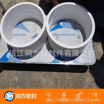 纯四氟管 我们采用模压工艺 制作的产品密度更高 耐磨性能也更好