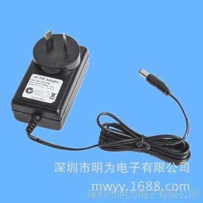 厂家生产销售12W电源适配器 DC12V 1A 安防监控电源 mingway