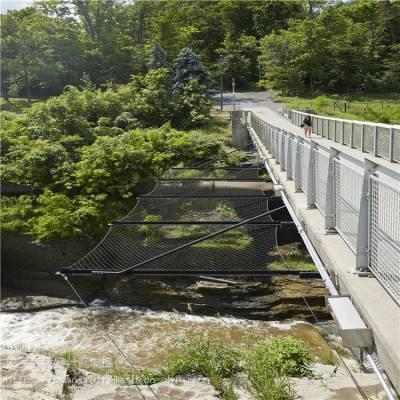 桥梁安全防坠落网 桥梁安全防护绳网 不锈钢绳网