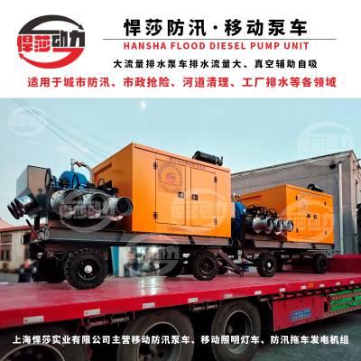 柴油机水泵2000立方大流量防汛排涝自吸泵车排水泵抽水机16寸厂销