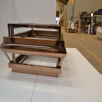 不锈钢玫瑰金工艺制品加工 不锈钢玫瑰金茶几制作