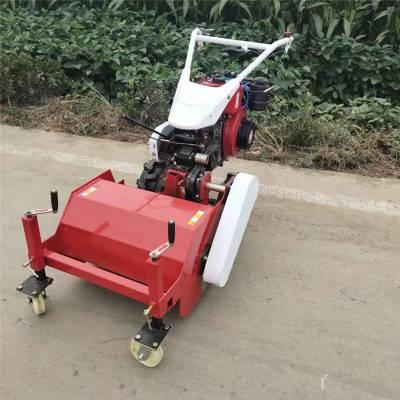 亚博国际真实吗机械 山地不平杂草切碎还田机 操作方便的柴油动力小型手推式碎草机 电动式碎草机还田机
