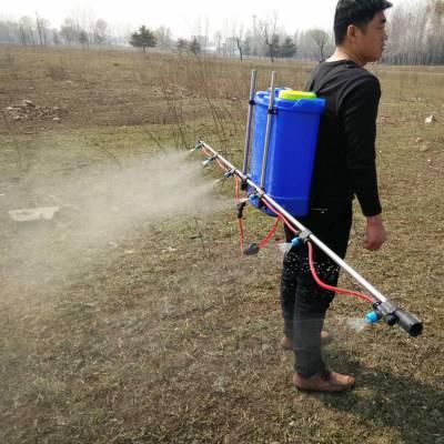 新型产品背负式电动喷雾器 8喷头支架打药机 蓄电池农田喷雾器