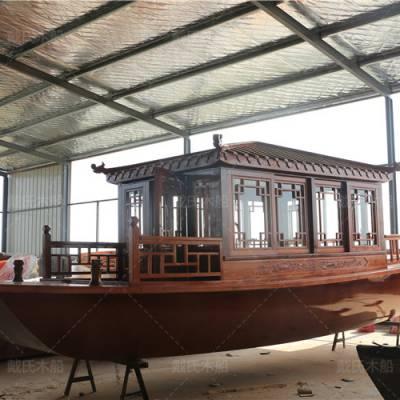 福建厦门木船厂家定制5米电动观光木船