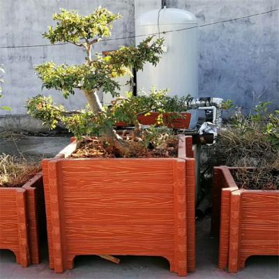 东乡方型仿木花箱 公园道路水泥花箱现货批发