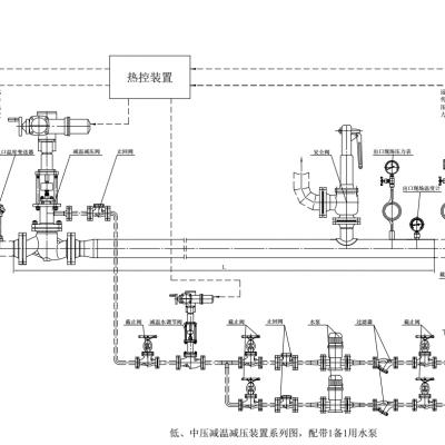供应浙江明亮自控减温减压装置WY30 减温减压器 汽封减温减压装置