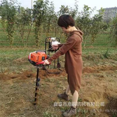 四轮植树挖坑机 园林植树汽油挖坑机 电线秆打坑机型号