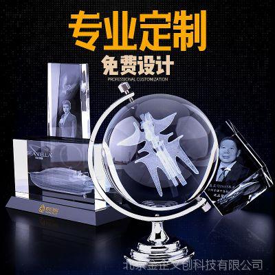 国金工匠水晶内雕定制 楼模建筑3D模型激光内雕 高档庆典纪念礼品定做 水晶模型来图定制