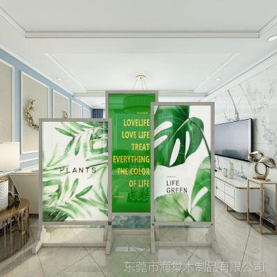 厂直销实木屏风隔断客厅茶楼装饰中式玄关门现代简约时尚移动座屏