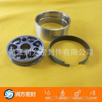 耐磨级别、改性聚四氟乙烯PTFE填充锡青铜粉特殊开口垫圈 搭口环