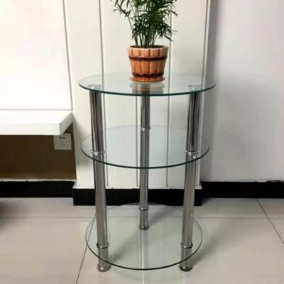厂家直销小户型钢化玻璃圆形茶几简约现代创意客厅边几角几小圆桌